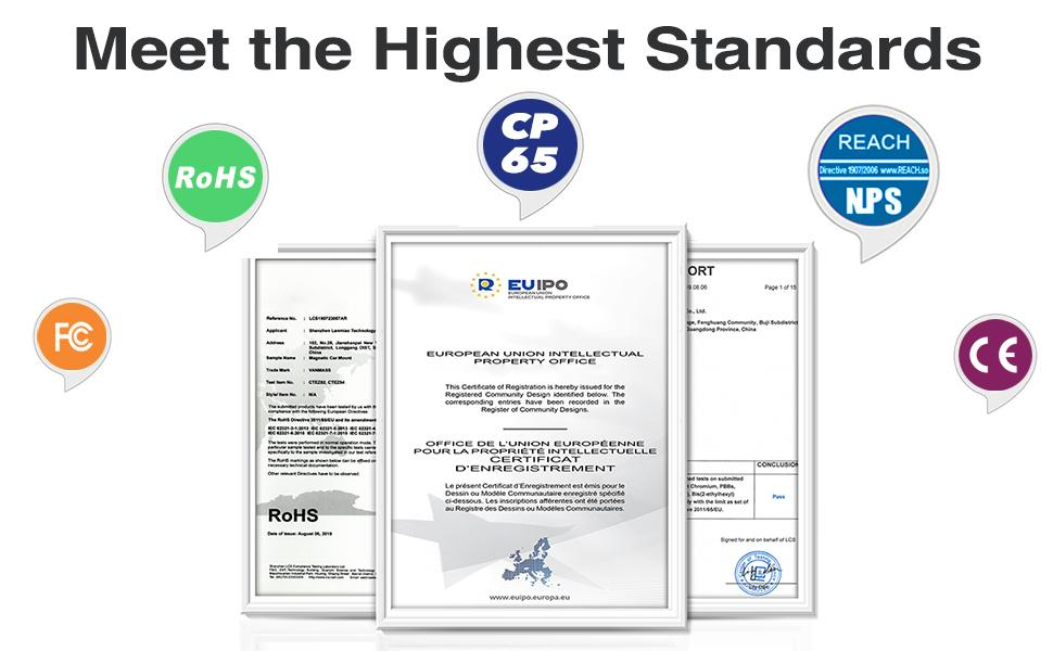 Patent & Safety Certs