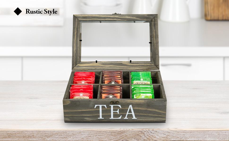 tea bag storage tea bag organizer storage box tea bag organizer with lid tea bag holder