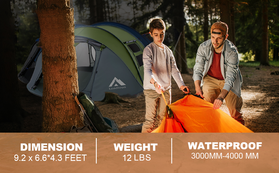 4 Person Easy Pop Up Tent