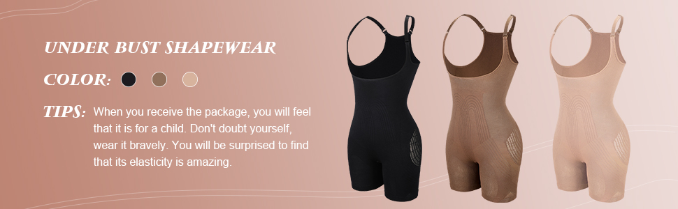 Three Colors for body shaper