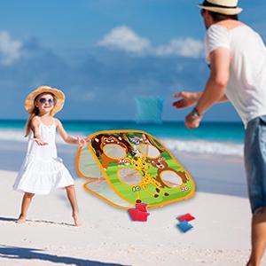 bean bag toss game for kid toddler outdoor indoor beach lawn