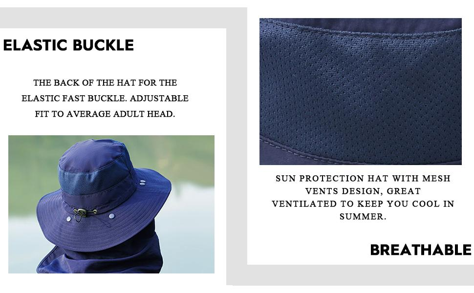 Sun protection hat with mesh vents design, great ventilated to keep you cool in summer.