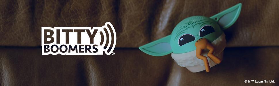 Grogu with frog bitty boomer bluetooth speaker