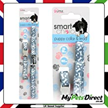 Grey with White Printed Bone Design 2-in-1 Dog Lead and collar Set