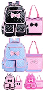 girls backpack with lunch tote bag