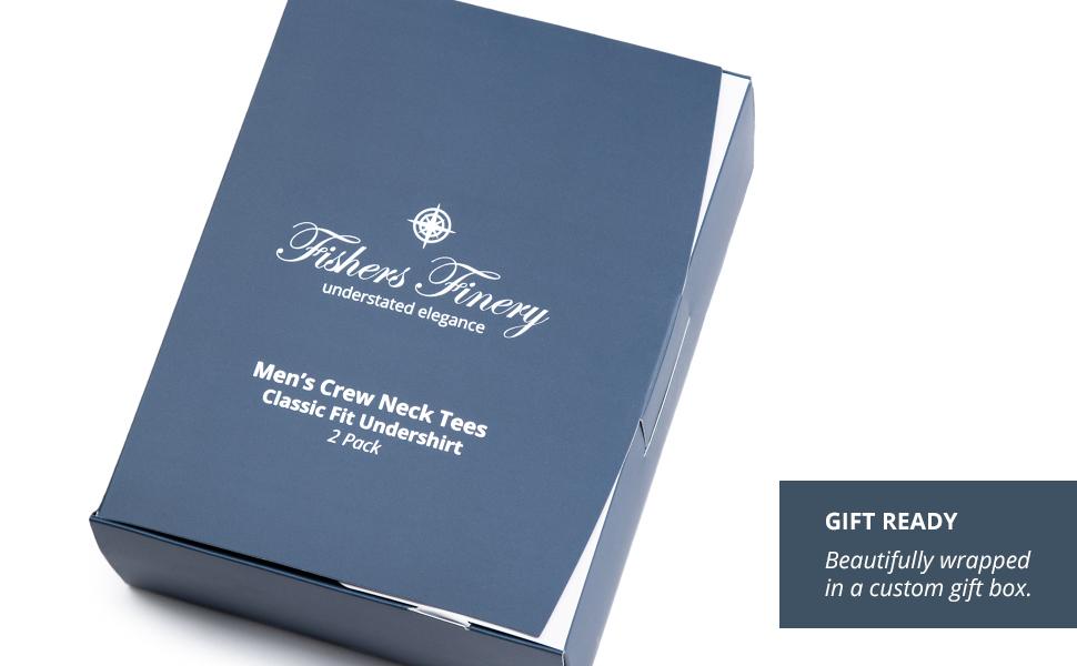 fishers finery mens tee gift box t shirt box product packaging gift ready shirt box
