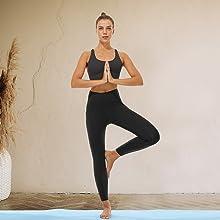 seamless high waisted leggings for women