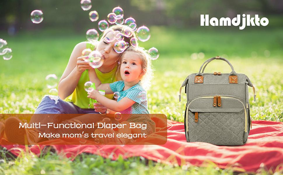 Hamdjkto Multi-Functional Diaper Bag Make mom's travel elegant