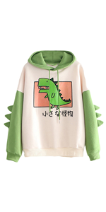 dinosaur hoodies for women pullover cute