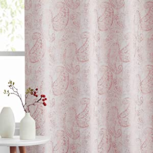 coral pink blackout curtains  for dining room/patio/sliding door