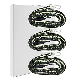 3 Pieces Kayak Tying Oar Rope (green)