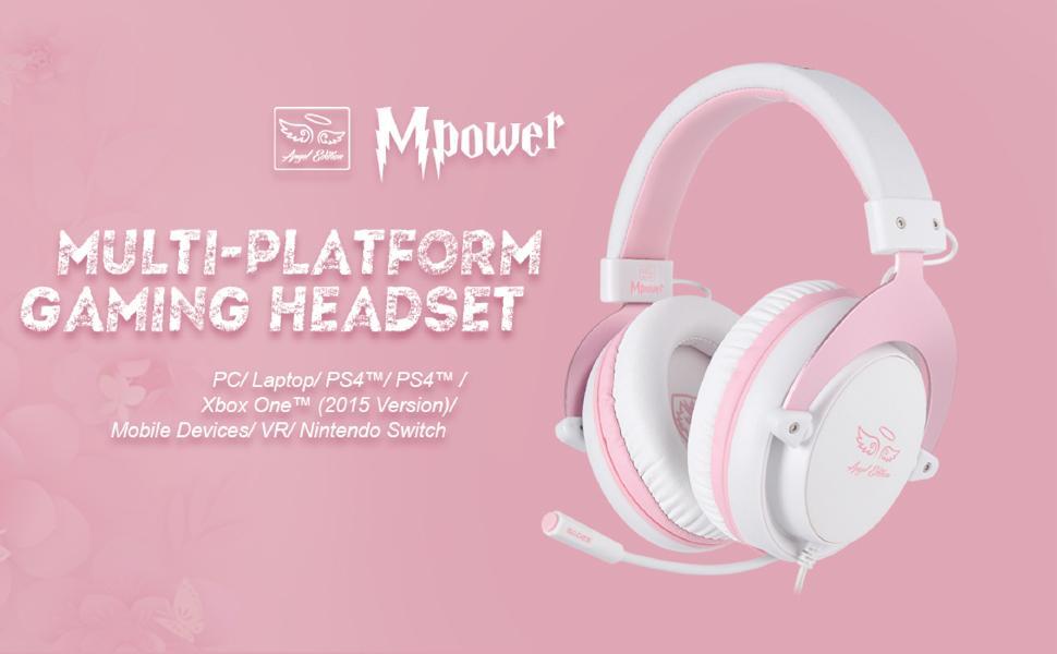 SADES Angel Edition Headset Rosa