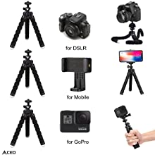 Compatible with DSLR, Mobile and GoPro