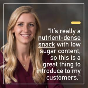 nutrient dense low sugar low carb tastes good snack