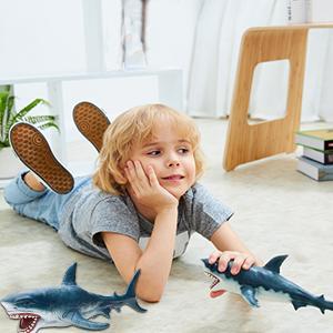 megalodon tooth shark bath toys sea creature toys sharks for boys