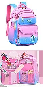 backpack for girls Kids Backpack Cute Princess School Bookbag for Primary Girlsbakpack