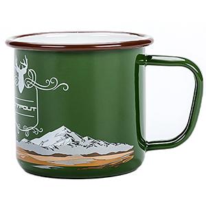 enamel camping mugs green