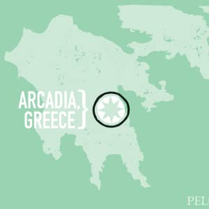 POLOPONNESE MAP OF ARCADIA GREECE