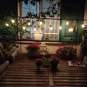 outdoor string lights 100ft