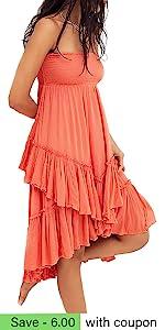B096XZZLHK-款22 Boho High Low Dress