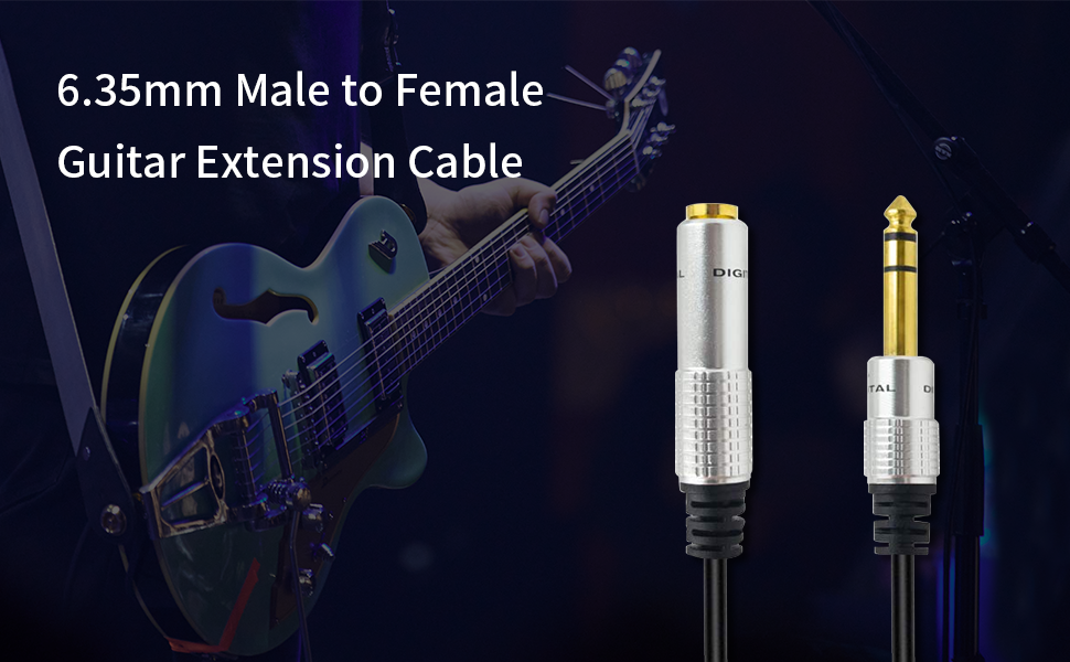 6.35mm male to female cable