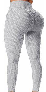 Yoga Leggings Booty Butt Lifting Tummy Control Running Workout Textured Yoga Pants
