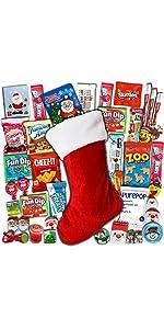 christmas care package Santa winter present treats toys snacks candy gift box assortment bundle boys