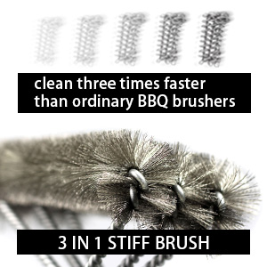 Best 3 in 1 Heavy Duty Barbeque Grill Brush