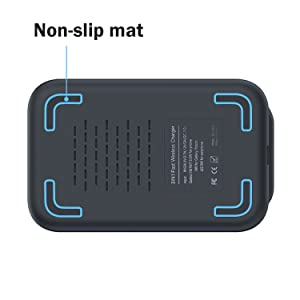 Samsung charger dock with non-slip mat