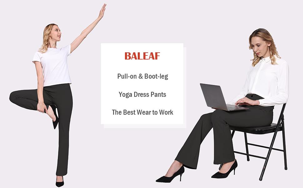 BALEAF Women's Black Pants for Work