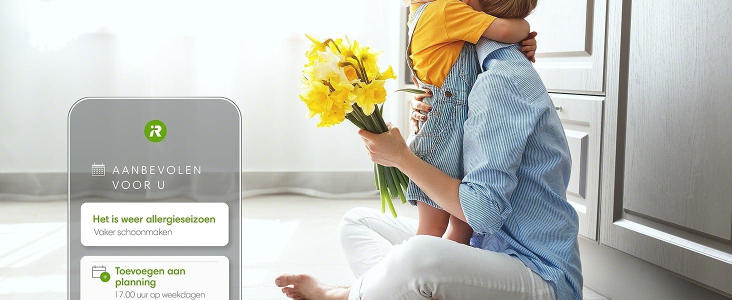 de iRobot HOME app geeft u persoonlijke suggesties