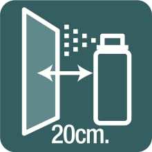 spray from at least 20 cm