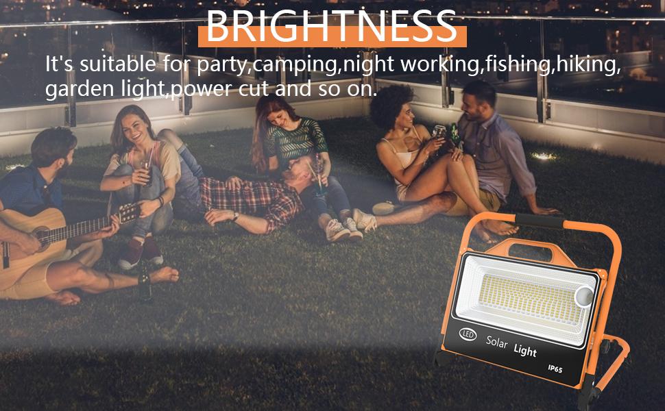 portable solar work light