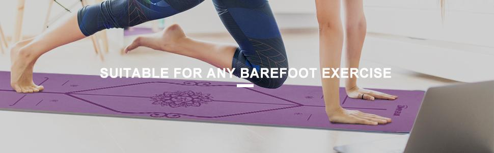 Suitable for any barefoot exercise