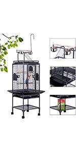 72 Inch bird cage