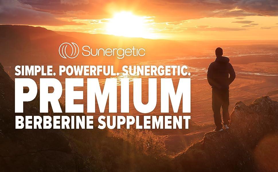 Berberine hcl Sunergetic Best Berberine Berberine 1200 mg 600 mg blood sugar support 1000 mg