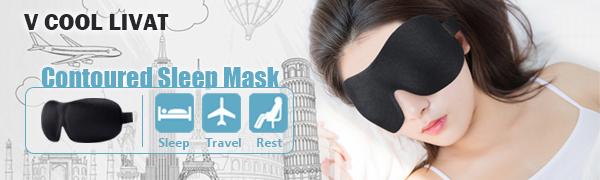 v cool livat Sleep Eye Mask for Men Women 3D Contoured Cup Sleeping Mask