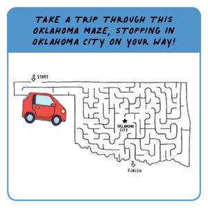 Take a trip through this Oklahoma maze, stopping in Oklahoma City on your way!