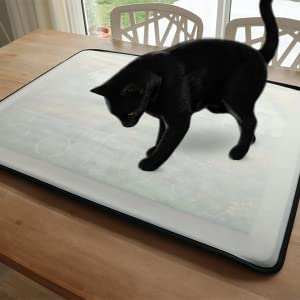 Cat going to get your puzzle. Cover protects it from paws, dust or kids.