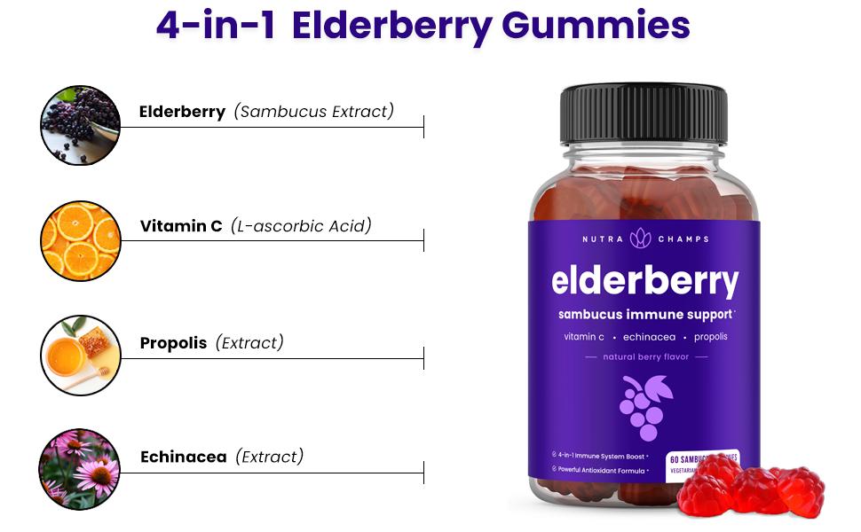 elderberry gummies sambucus immune support gummy supplement