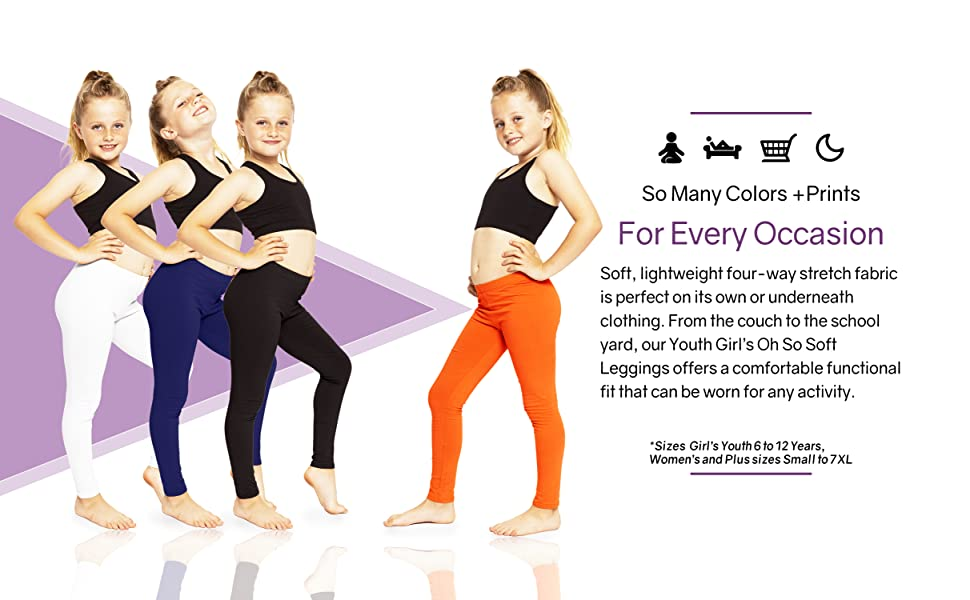How to wear Oh So Soft Solid and Print Girl's Leggings