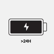 長時間のバッテリー寿命