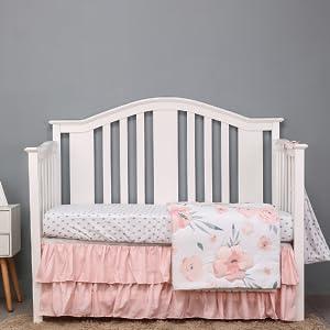 floral crib bedding