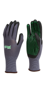 Eskrigg garden foam nitrile palm work gloves gardening strong grip durable tough industrial