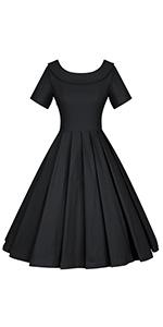boat neckline swing dress