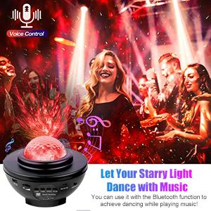 Star Projector Galaxy Light Projector with Voice Control