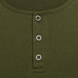 henley shirt with 3 buttons