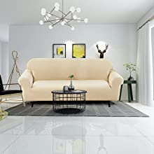 Waterproof Sofa Cover loveseat,3 Cushion Couch,High Stretch Sofa Cover To Fit Various Sofa