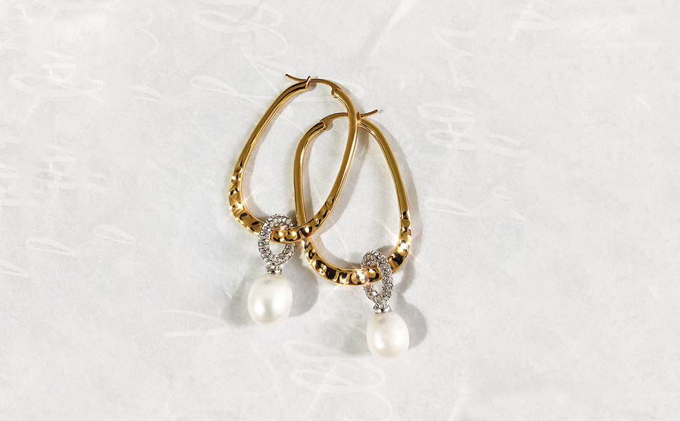 High polished hoop earrings