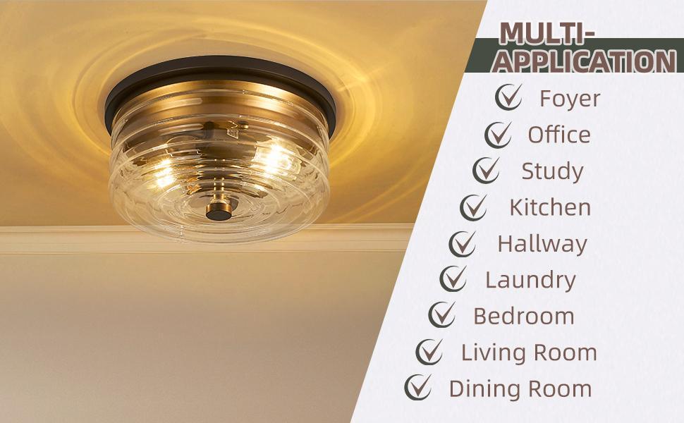 industrial flush mount light fixture